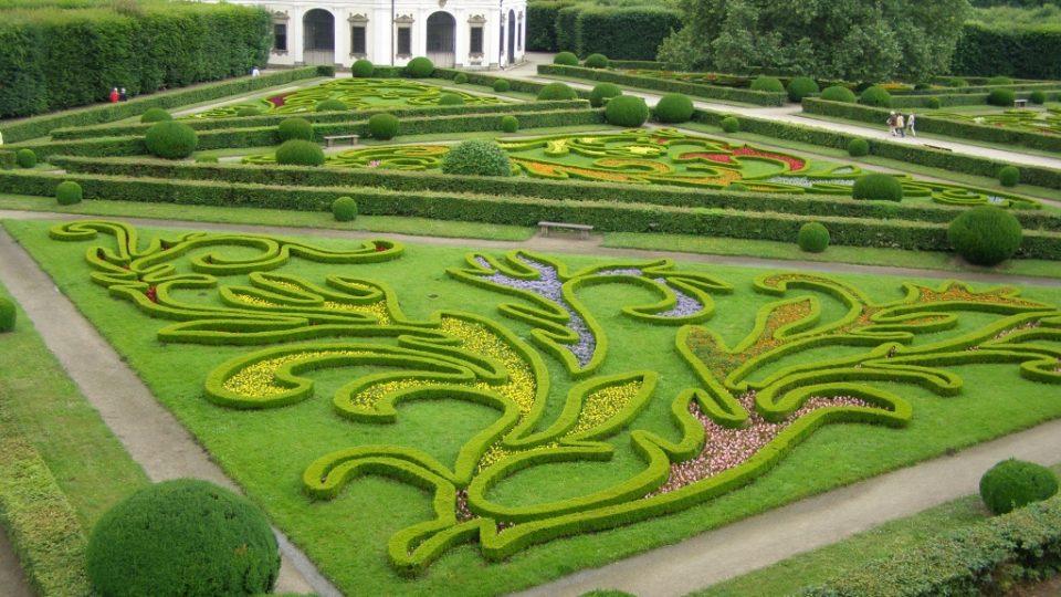 Květná zahrada u zámku v Kroměříži