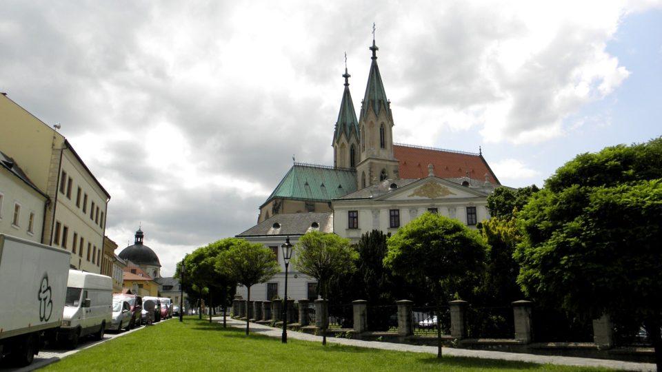 Pohled na kostel sv. Mořice