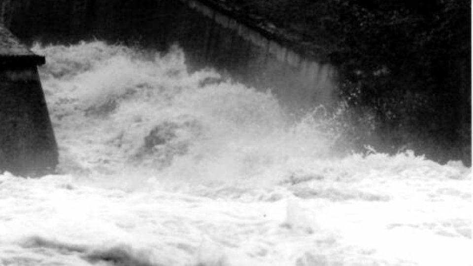 Fryštácká přehrada červenec 1997.