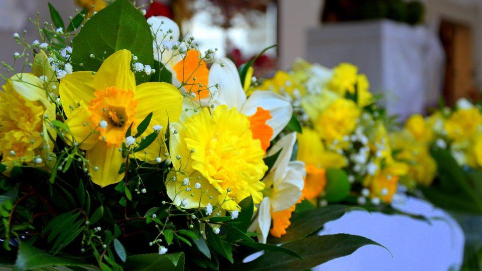 Holešovský zámek - výstava květinových vazeb