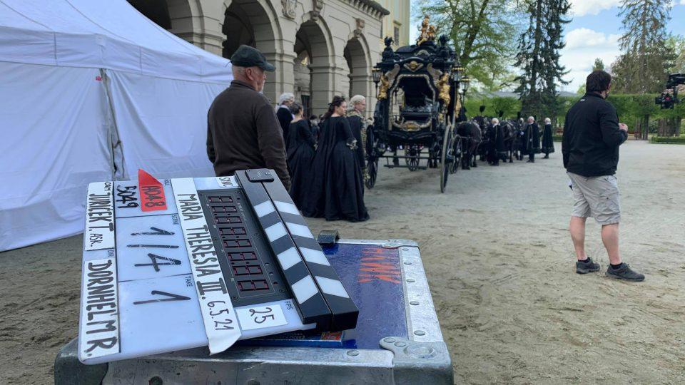 Natáčení pokračování minisérie Marie Terezie v Kroměříži (květen 2021)