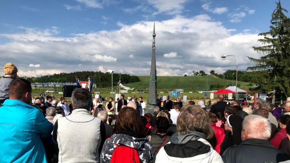 Tupesy na Uherskohradišťsku, památník k návštěvě papeže Jana Pavla II