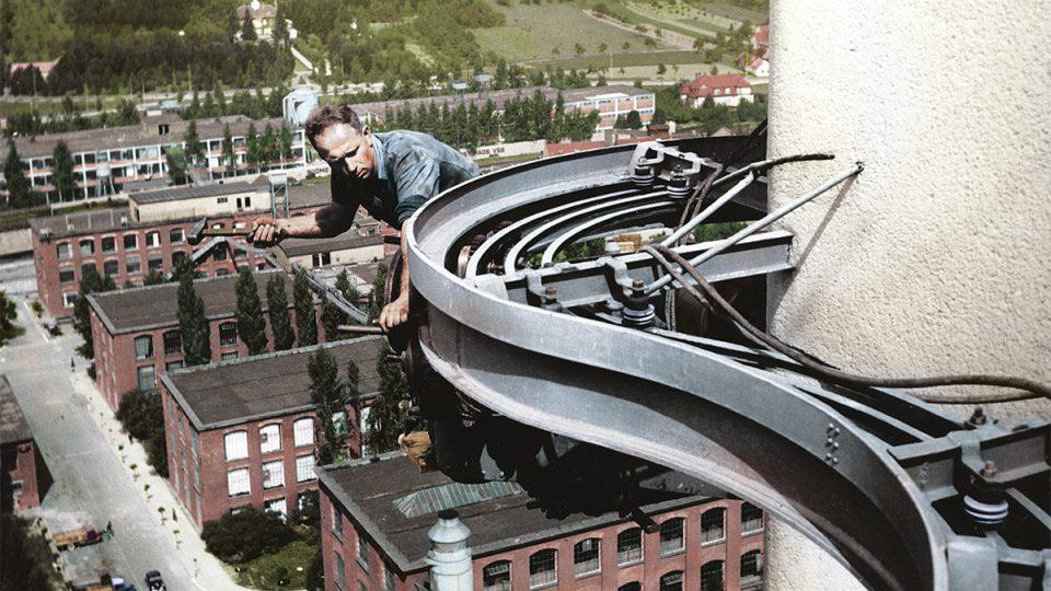 Kolorované archivní fotografie Baťovského Zlína 1920-1945