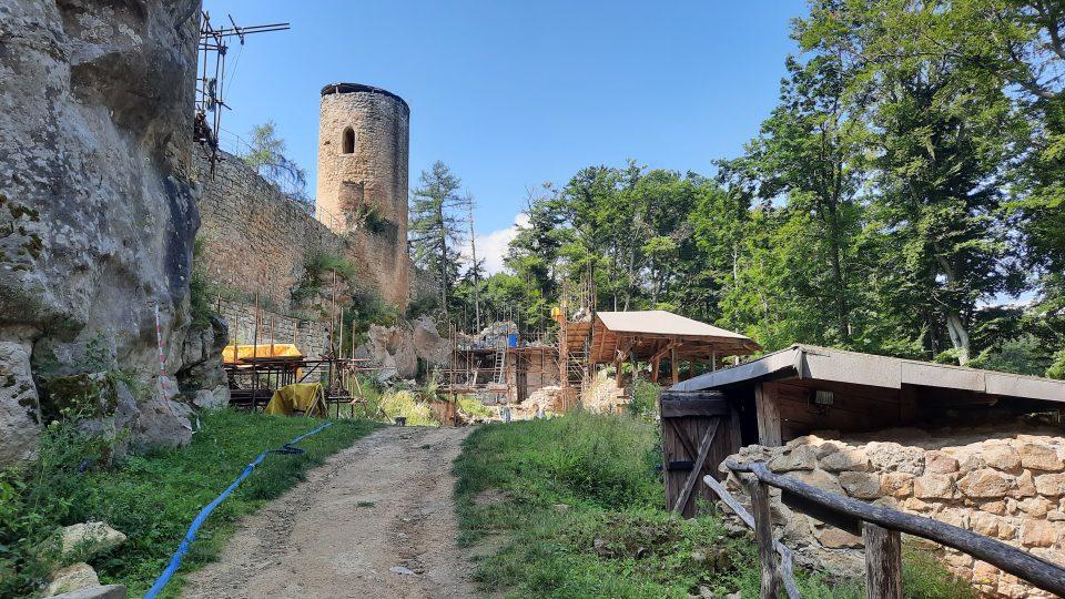 Opravy hradu Cimburk 2021