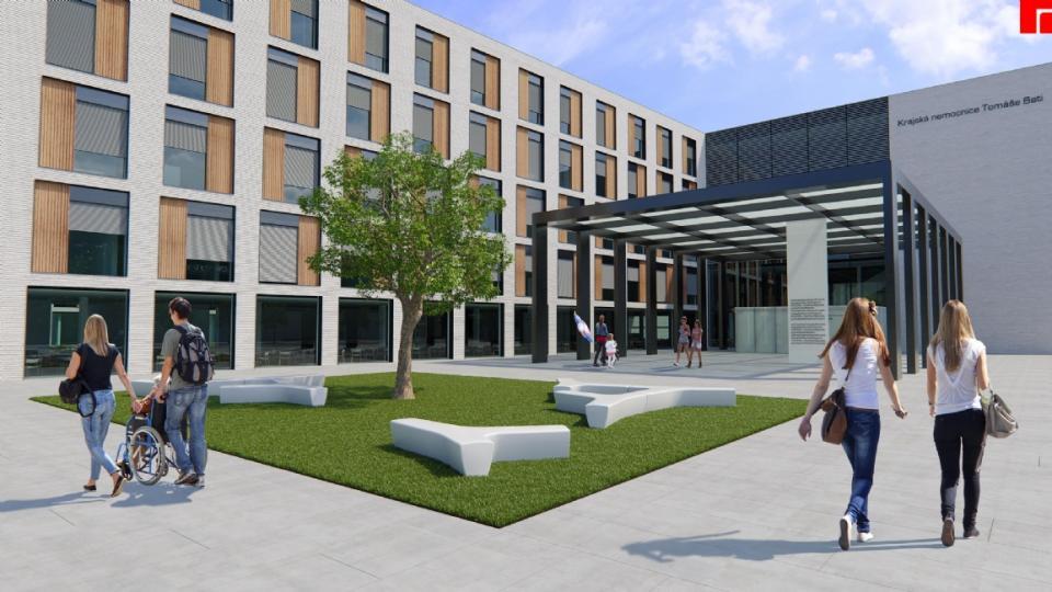 Vizualizace nové nemocnice Tomáše Bati ve Zlíně
