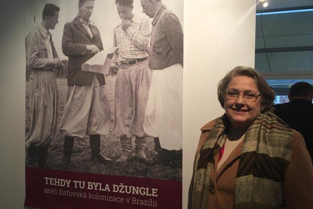 Dolores Liliana Bata Arambasic při zahájení výstavy