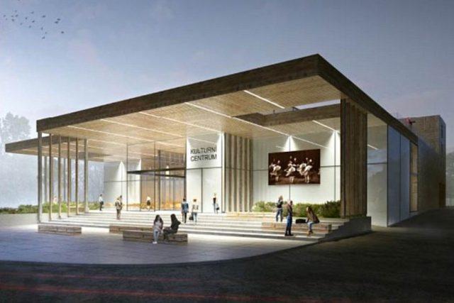 Vítězný návrh podoby plánovaného kulturního centra v Rožnově pod Radhoštěm z ateliéru Archteam z Brna