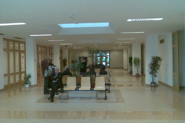 Chodba Krajského soudu ve Zlíně