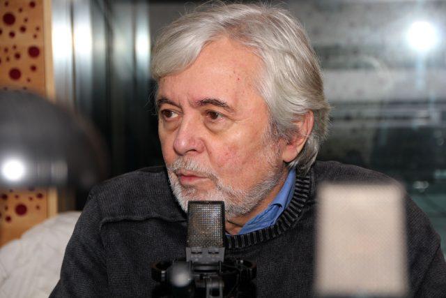 Známý herec Josef Abrhám byl hostem Radiožurnálu   foto: Šárka Ševčíková,  Český rozhlas
