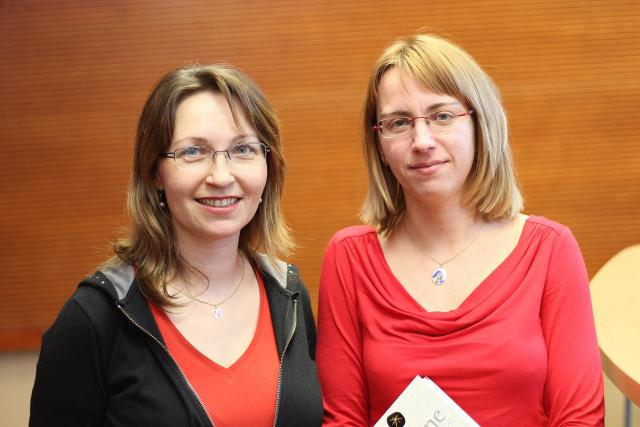 Lucie Tučková s moderátorkou Dášou Kubíkovou