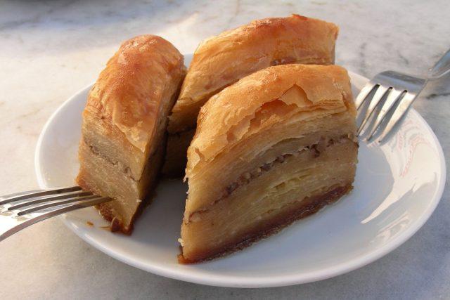 Dezert, baklava, listové těsto (ilustrační foto)