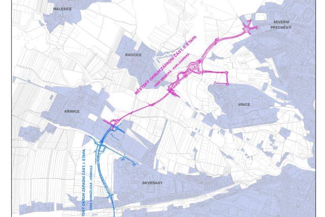 Plán západního okruhu města Plzně