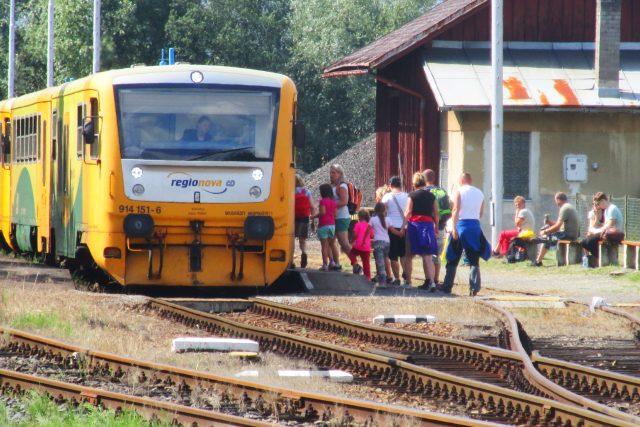 Cestující vlakem (ilustr. foto)