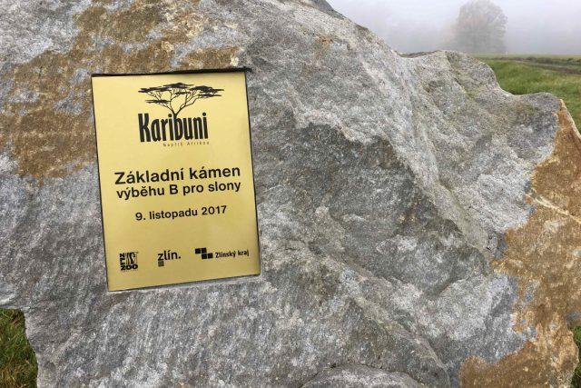 Základní kámen nové africké expozice zlínské zoo.