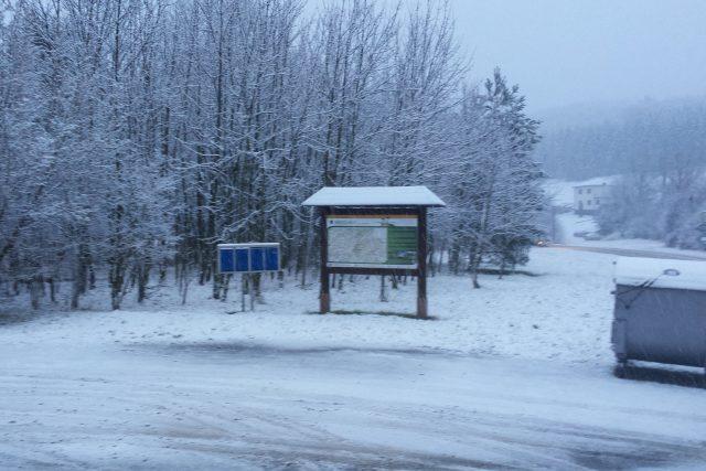 Sníh v Březůvkách