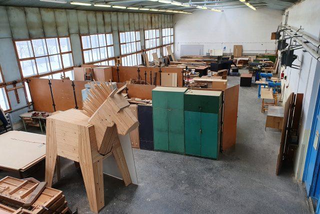 Nábytkářská škola Bystřice pod Hostýnem - prázdné dílny