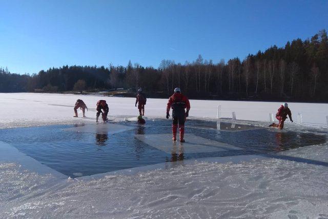 Záchrana člověka pod ledem, Vysočina