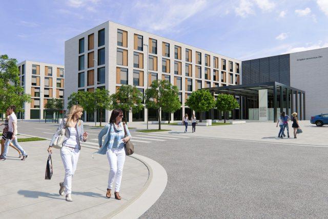 Vizualizace nové Baťovy nemocnice ve Zlíně