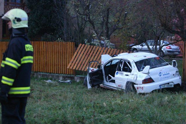 Nehoda při rallye na Lopeníku v roce 2012