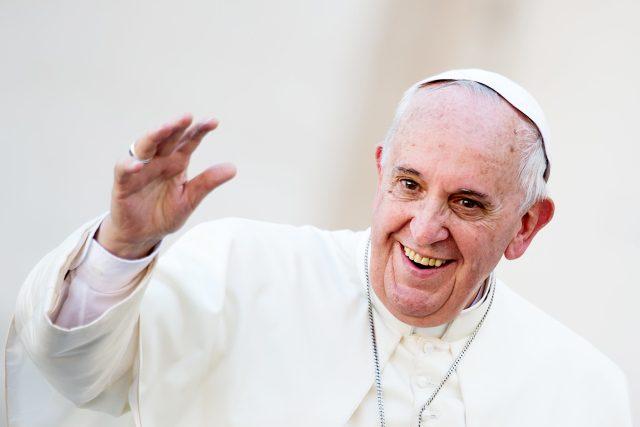 Papež František   foto:  Catholic Church England and Wales,  Flickr,  CC BY-NC-SA 2.0