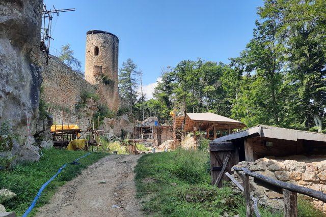 Opravy hradu Cimburk 2021 | foto: Michal Sladký,  Český rozhlas