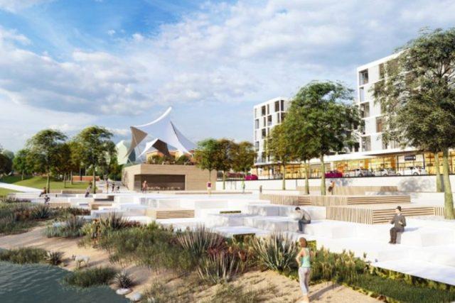Plány na využití Baťovy nemocnice - vizualizace