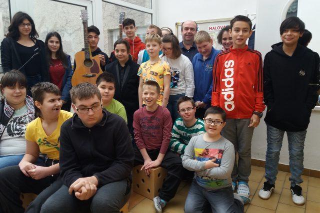 Moravské děti ze ZŠ Bystřice pod Hostýnem | foto: Andrea Kratinová,  Český rozhlas