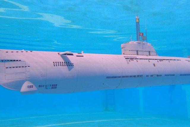 Model ponorky od Oty Gerži ze Vsetínska