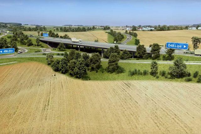 Vizualizace dálnice D49