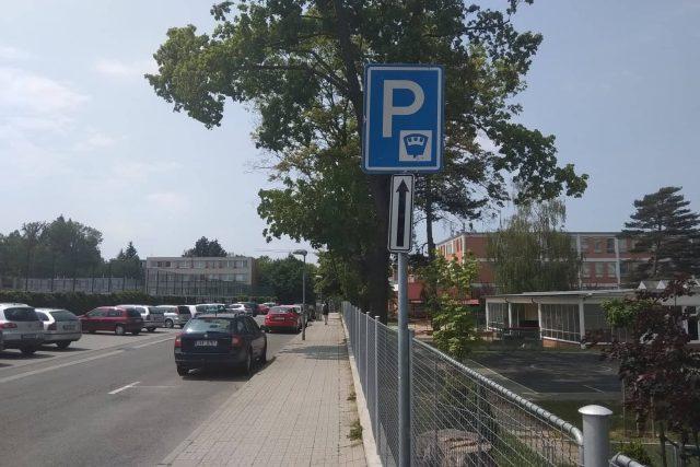 Parkování v centru Zlína