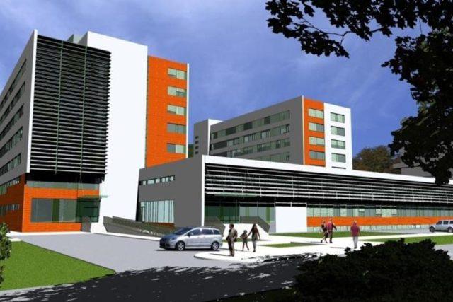 Vizualizace původních plánů na rekonstrukci stávající Baťovy nemocnice