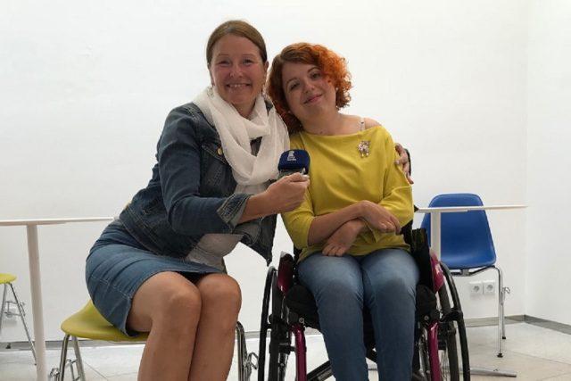 Magdalena Hanková s redaktorkou Andreou Kratinovou