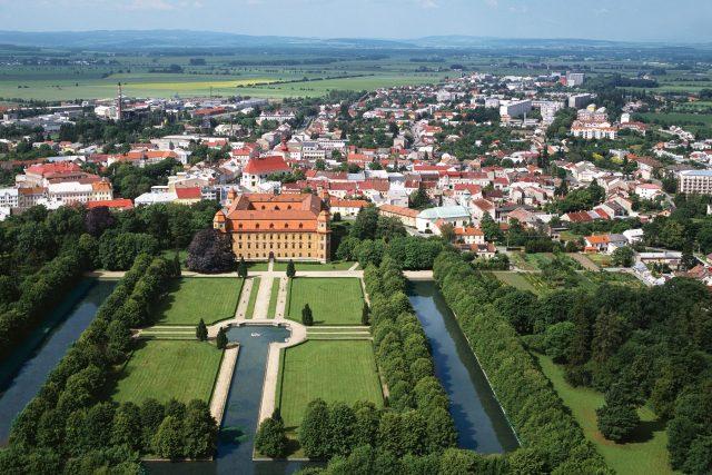 Město Holešov, zahrada a zámek