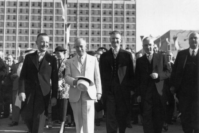 Edvard Beneš,  Dominik Čipera,  Jan Antonín Baťa   foto: ČTK