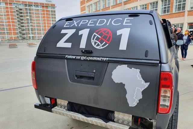 Expedice Z101 těstě před startem ze Zlína 22. dubna 2021