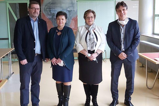 Noví ředitelé krajských nemocnic 2021 - zleva: Michal Filip (Zlín), Lenka Merganthalová (Kroměříž), Věra Prousková (Vsetín), Petr Sládek (Uherské Hradiště)