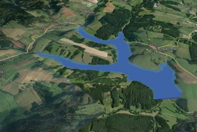 Předpokládaná rozloha vodního díla Vlachovice | foto: Zlínský kraj