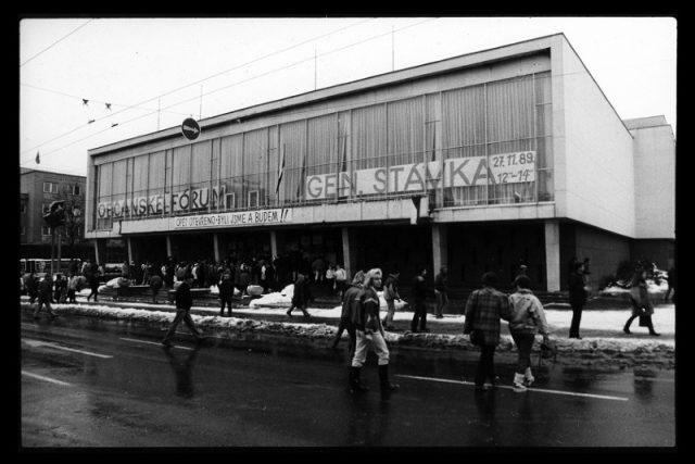 Městské divadlo Zlín v listopadu 1989