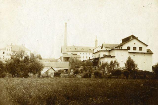 Pivovar Janáček na dobové fotografii
