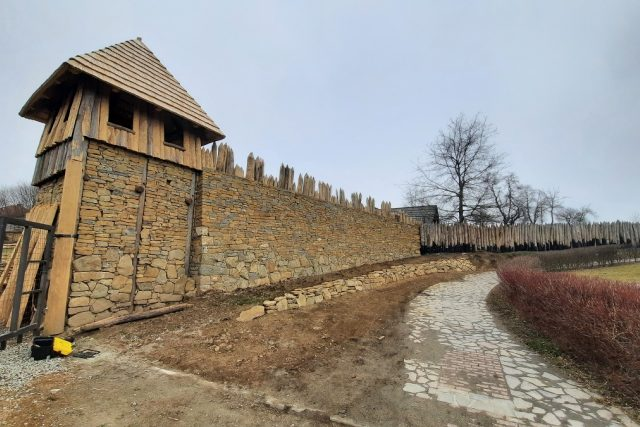 Archeoskanzen a expozice Živá voda v Modré na Uherskohradišťsku