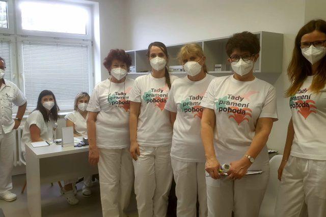 Tým očkovacího centra v Luhačovicích
