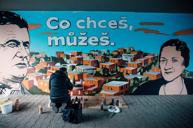 streetart Baťa (autor díla - Dalibor Vybíral)