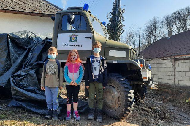 Jankovice, na opravu hasičské V3S přispěly i děti
