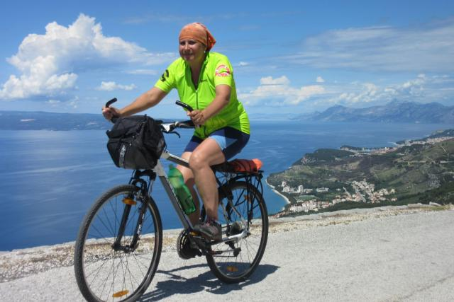 Jana Patková v Chorvatsku na kole