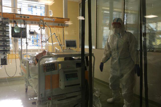 Covidový box na JIP v domažlické nemocnici
