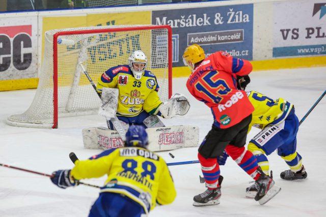 Hokejové utkání Chance ligy mezi Vsetínem a Přerovem