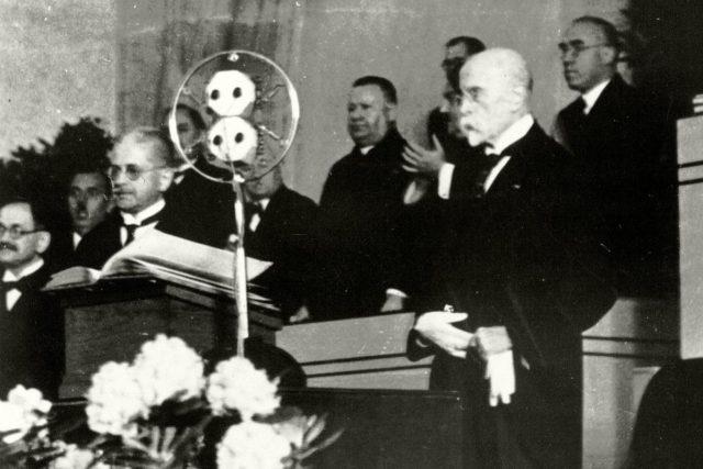 Tomáš Garrigue Masaryk v roce 1934